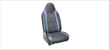 Datsun Go Seat Cover Art Leather Blue + Black