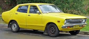 Yellow Datsun back in the day