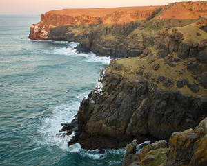 A cliff off the West Coast in the Eastern Cape