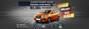 Datsun landing page all stock must GO