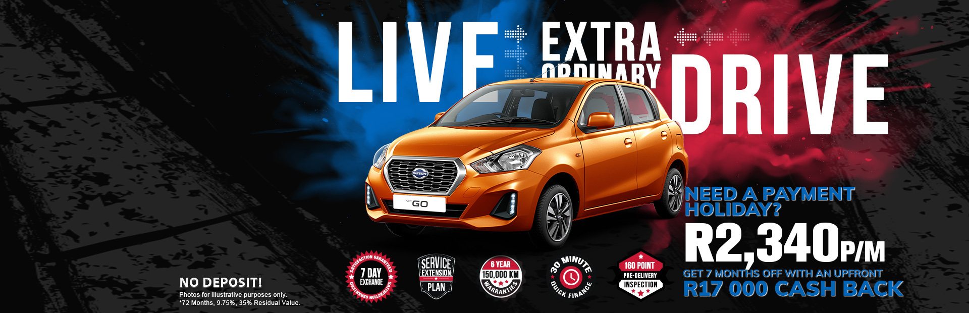 nec desktop website banner datsun go